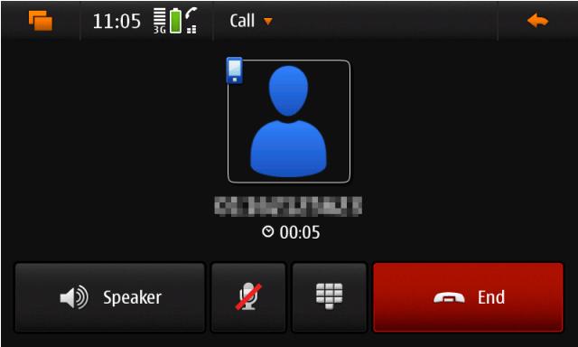 N900 Call started