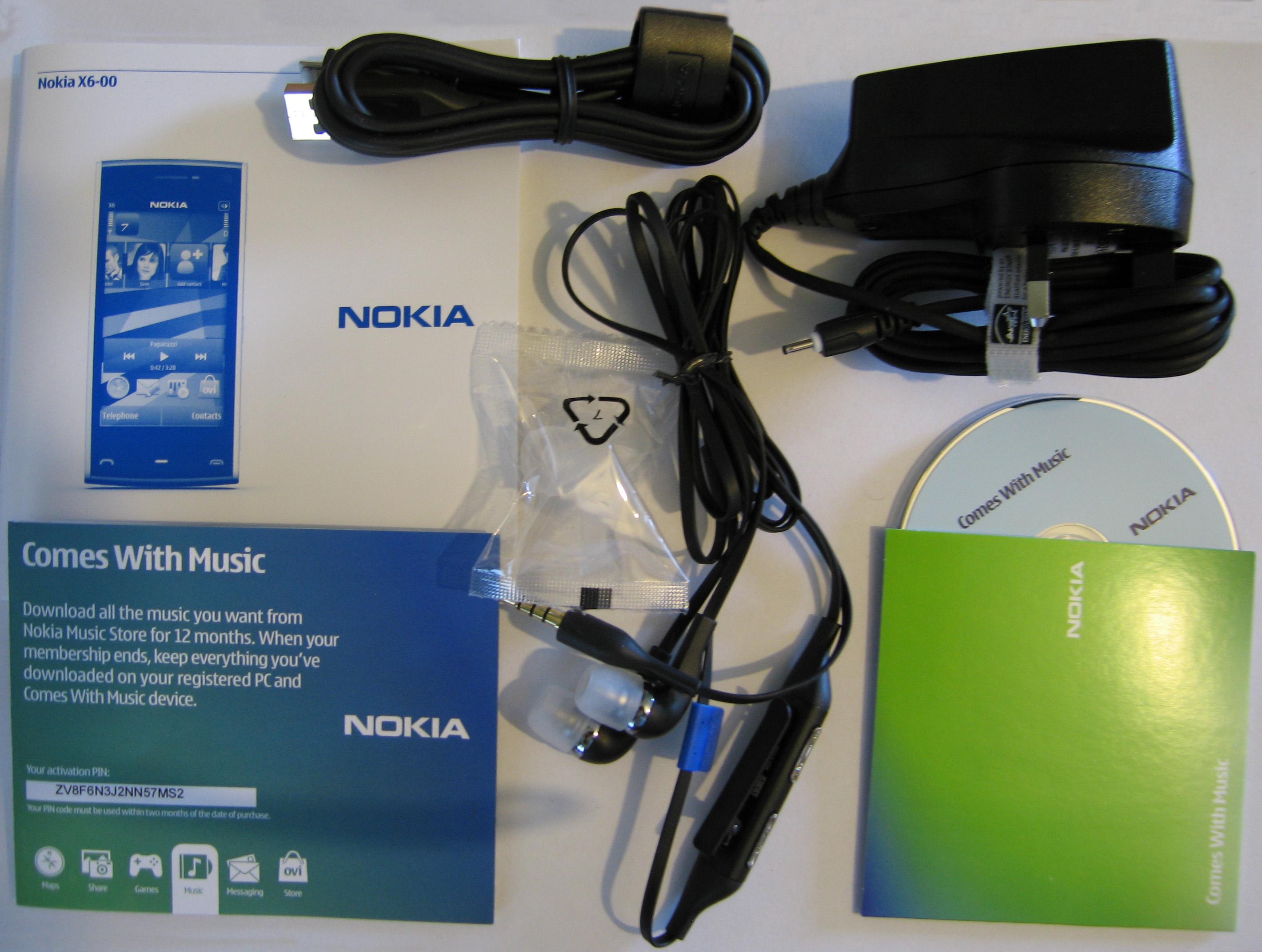 Nokia X6 – Accessories