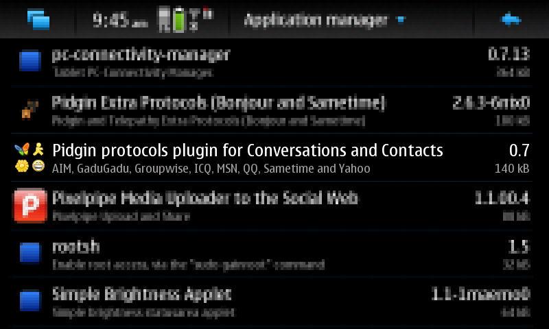 MSN, YAHOO, ICQ FOR N900