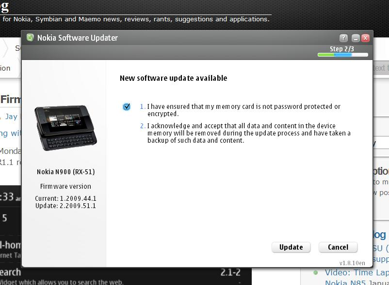 n900 firmware update nsu