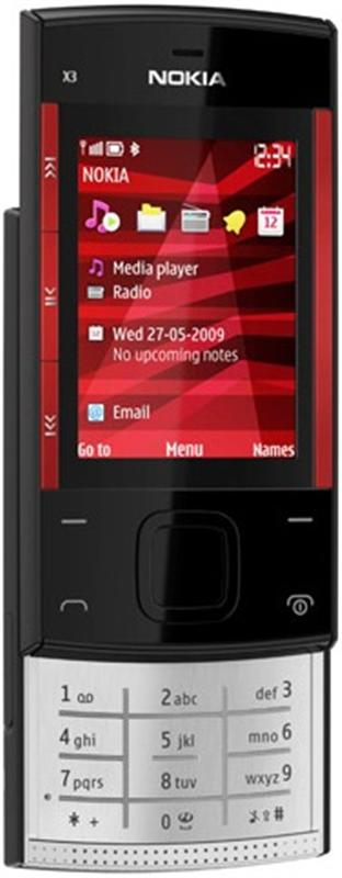 Nokia X3 Black/Red