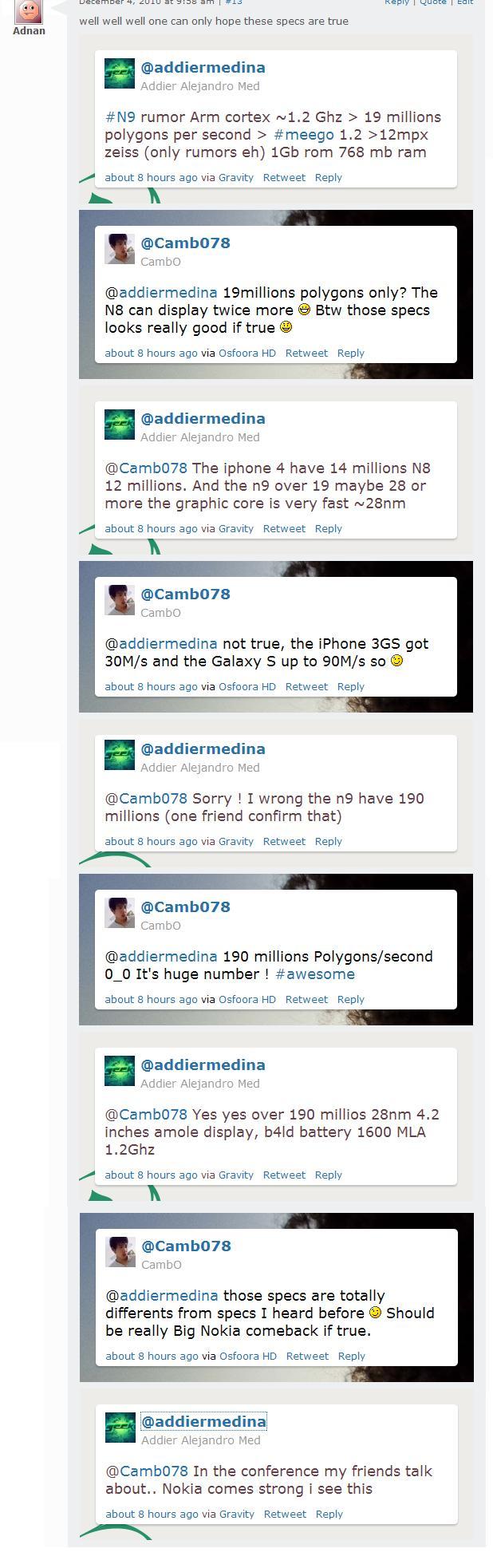 N9 Rumours