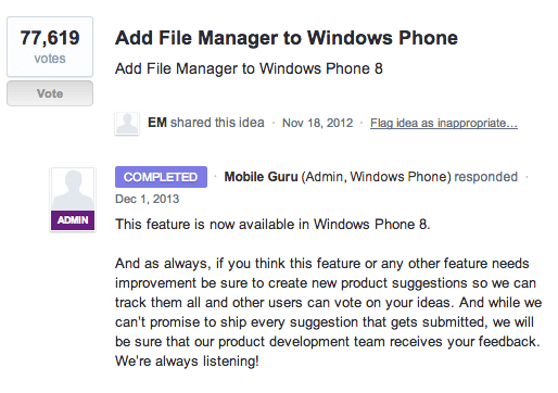 File Manager coming to Windows Phone : My Nokia Blog - 200