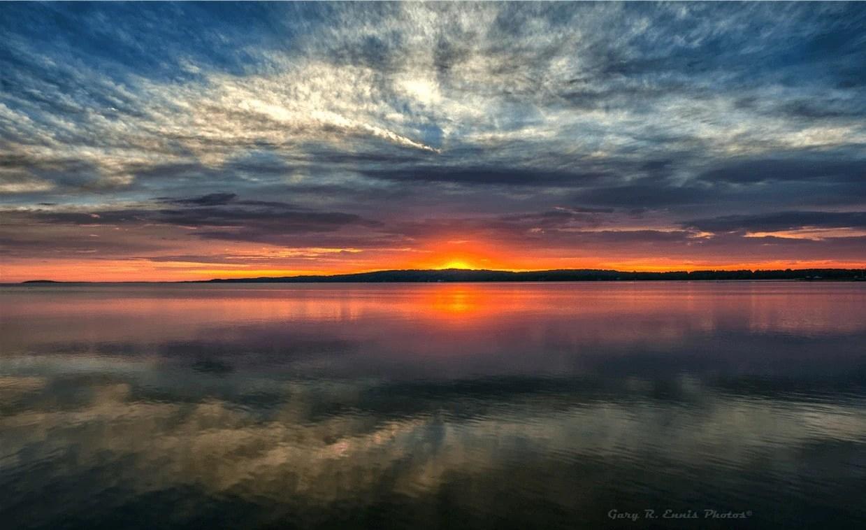 Sunrise On West Grand Traverse Bay