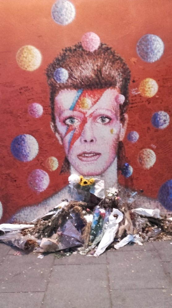 David Bowie wall painting in Brixton