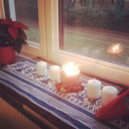 Following the tradition of lighting candles for each advent' Sunday