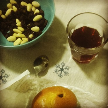 When advent gets closer Swedes finally get to taste again glögg (mulled wine) with russins and almonds, and lussekatter, a typical cake related to Lucia's celebration.