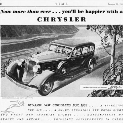1933 Chrysler Six Sedan