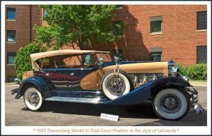 1935 Duesenberg Model SJ Dual-Cowl Phaeton 9