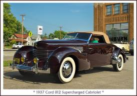 1937 Cord 812 Supercharged Cabriolet a