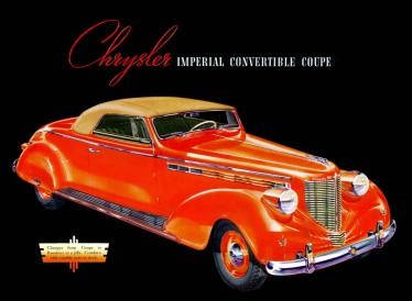 1938 Chrysler Imperial Eight Convertible Coupe, series C-19