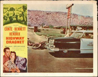 1954 LAS VEGAS POLICE SQUAD CAR original 1954 movie poster NASH AMBASSADOR lobby card