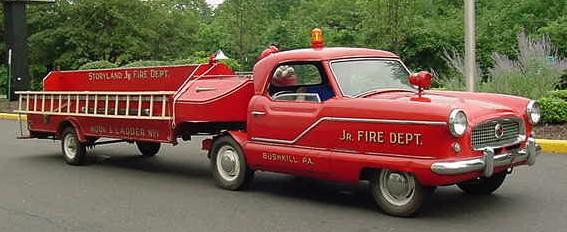 1957 Metropolitan converted into an amusement ladder fire truck