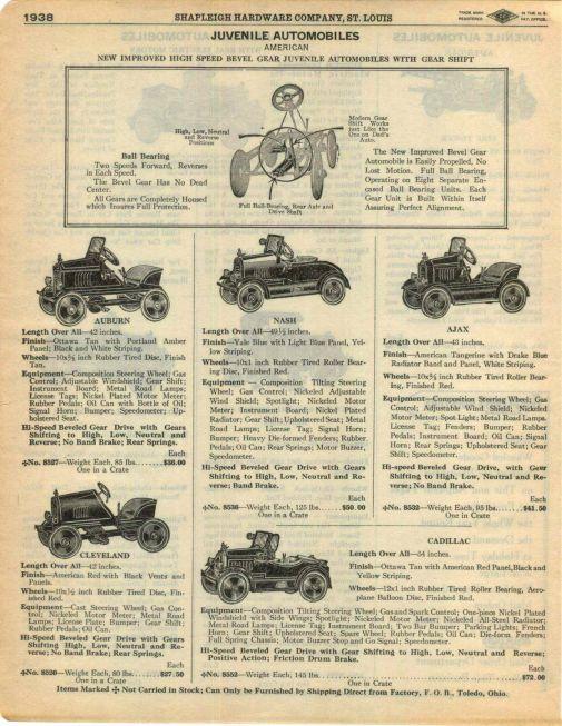 Nash pedal cars