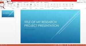 The PowerPoint slide presentation