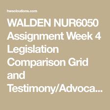 Legislation Comparison Grid and Testimony