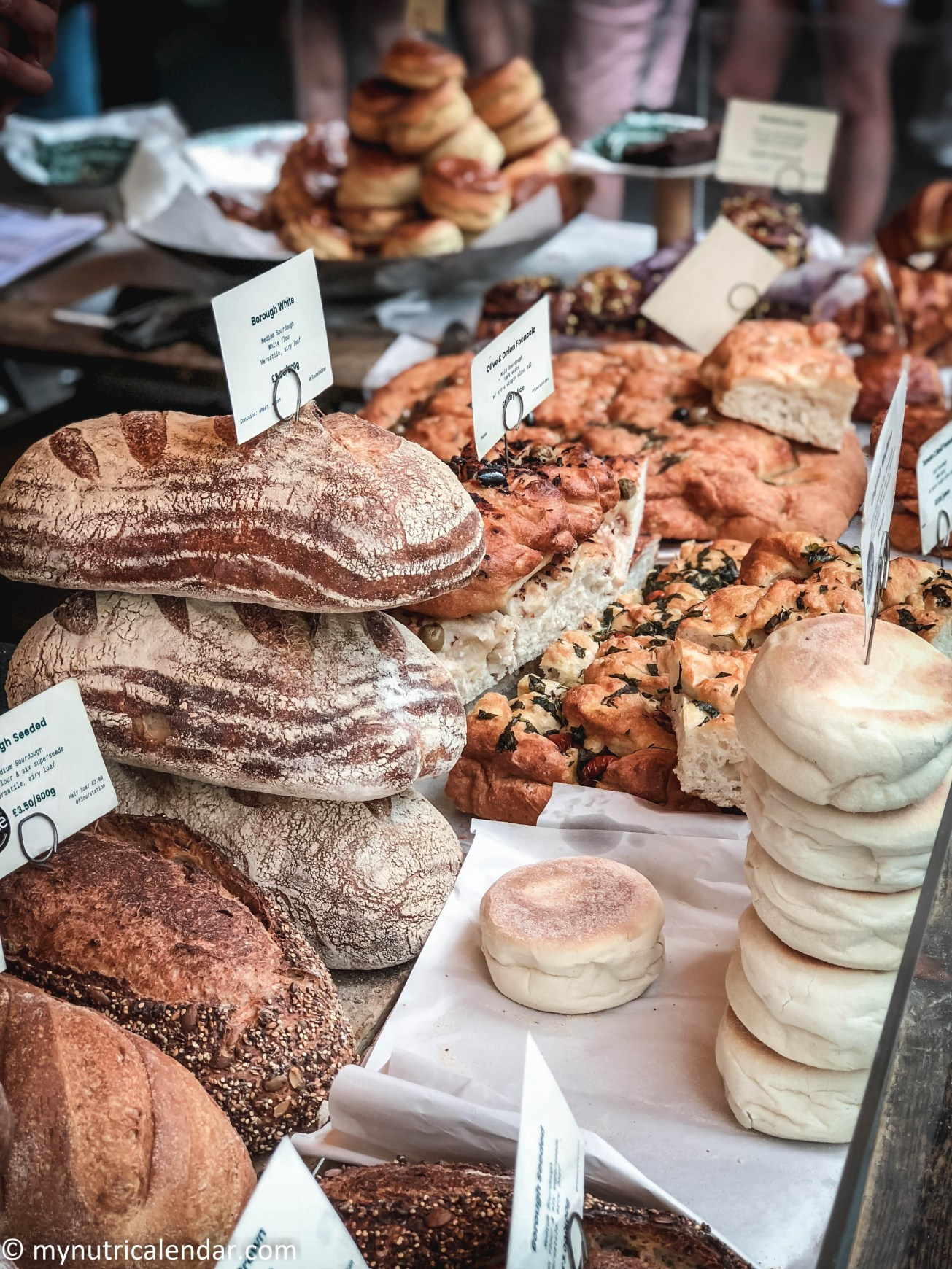 Borough Market London bakery and pastries