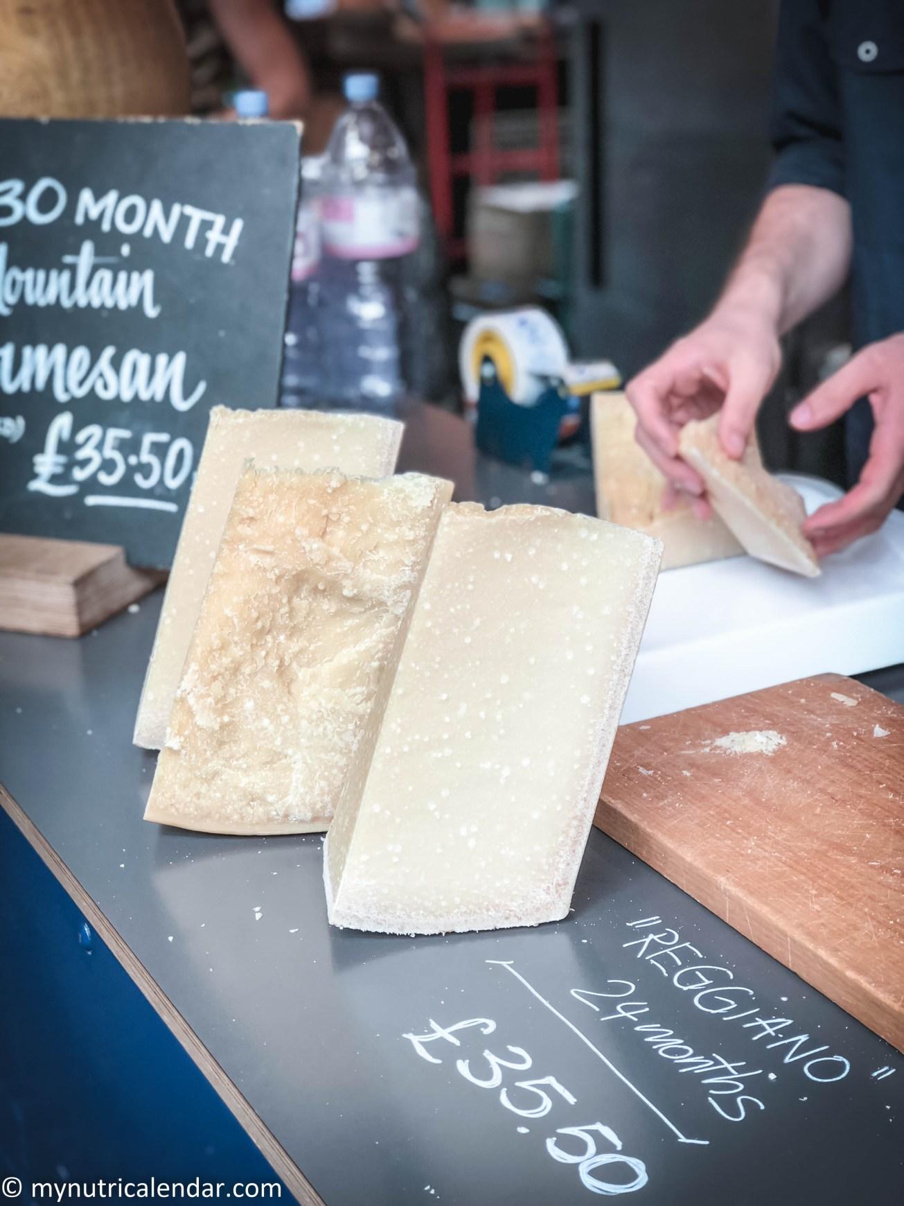 Borough Market London cheese parmigiano