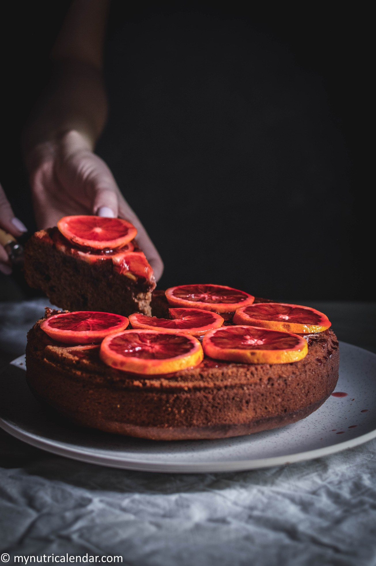 blood-orange-cake-chocolate-chips-raisins-no-sugar-4