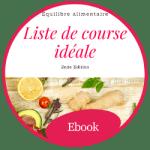 Ebook Liste de course équilibrée