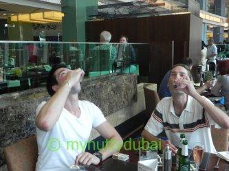 Visiting me in Dubai, June 2011