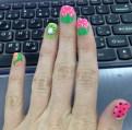 Close up of my nails