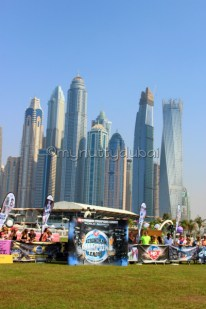 Dubai Marina in the background
