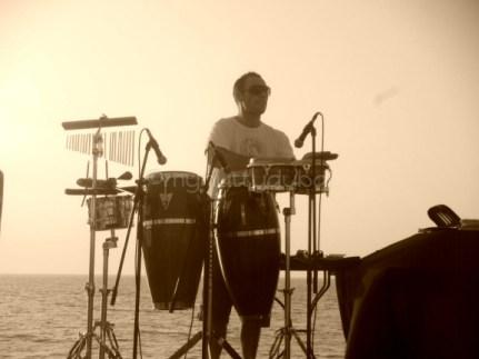 Music on the beach, Dubai