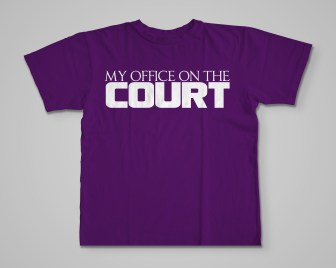 Official My Office On The Court T-Shirt purp
