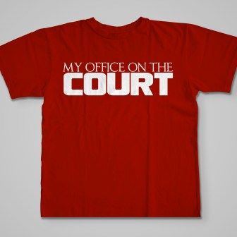Official My Office On The Court T-Shirt red
