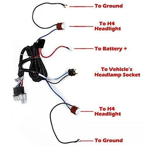1st Gen 4Runner H4 Headlight Conversion • My Off Road Radio H Headlight Bulb Wiring Diagram on headlight wiring diagram for a 93 toyota pickup, headlight socket wiring diagram, headlight switch wiring diagram, headlight relay wiring diagrams,