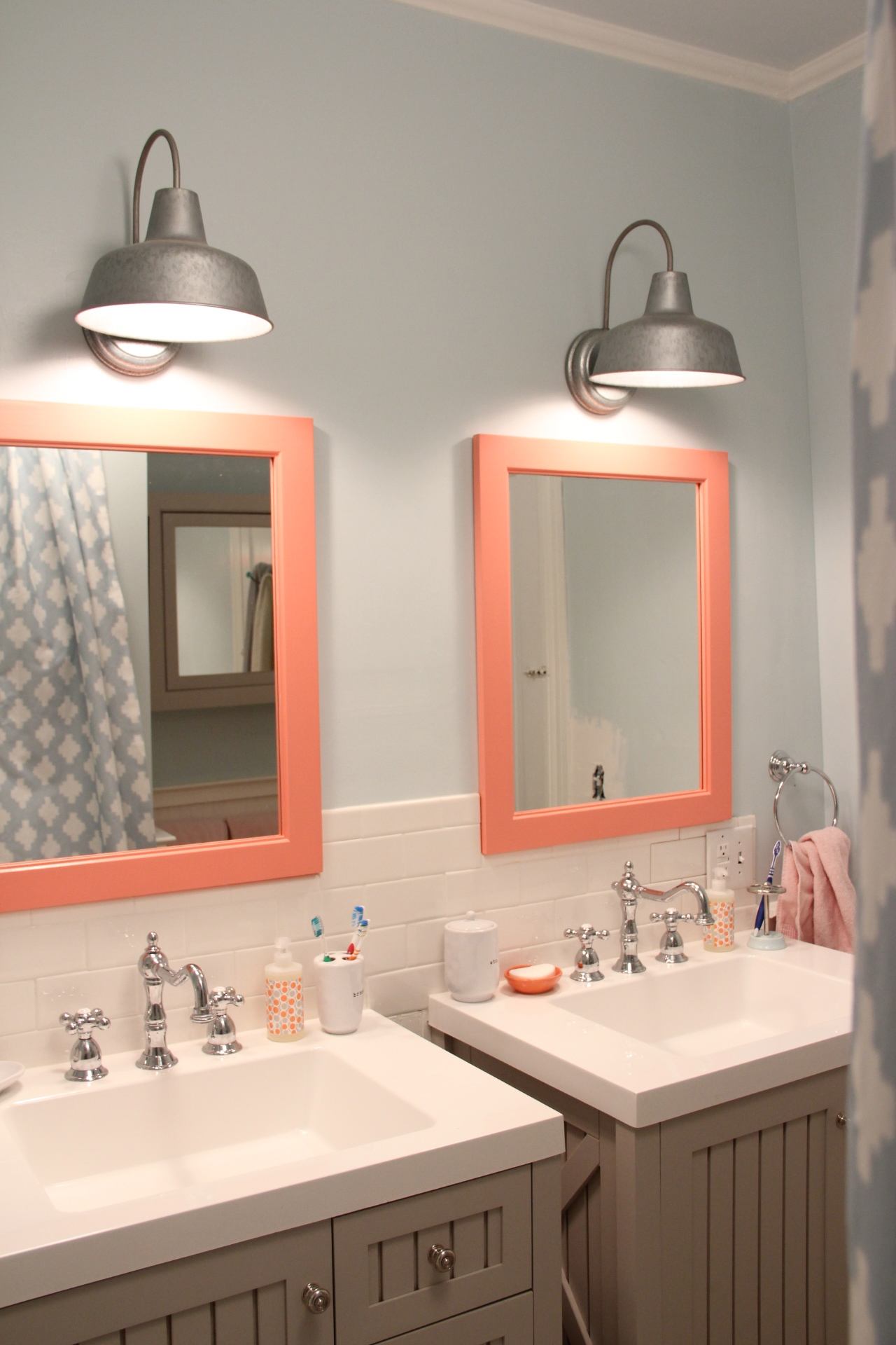 Elegant Galvanized sconces LOWES Mirrors painted Benjamin Moore Coral Gables