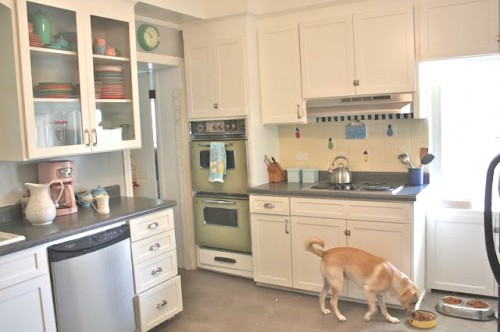 I hope to replace the backsplash with simple subway tile...again, nothing too expensive or involved as there is the hope that one day this kitchen will be able to undergo a gut renovation...maybe...someday.