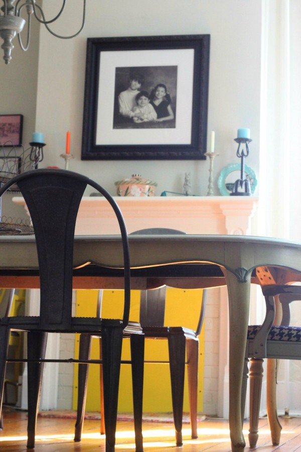 DINING ROOM- and the IRON CANDLESTICKS
