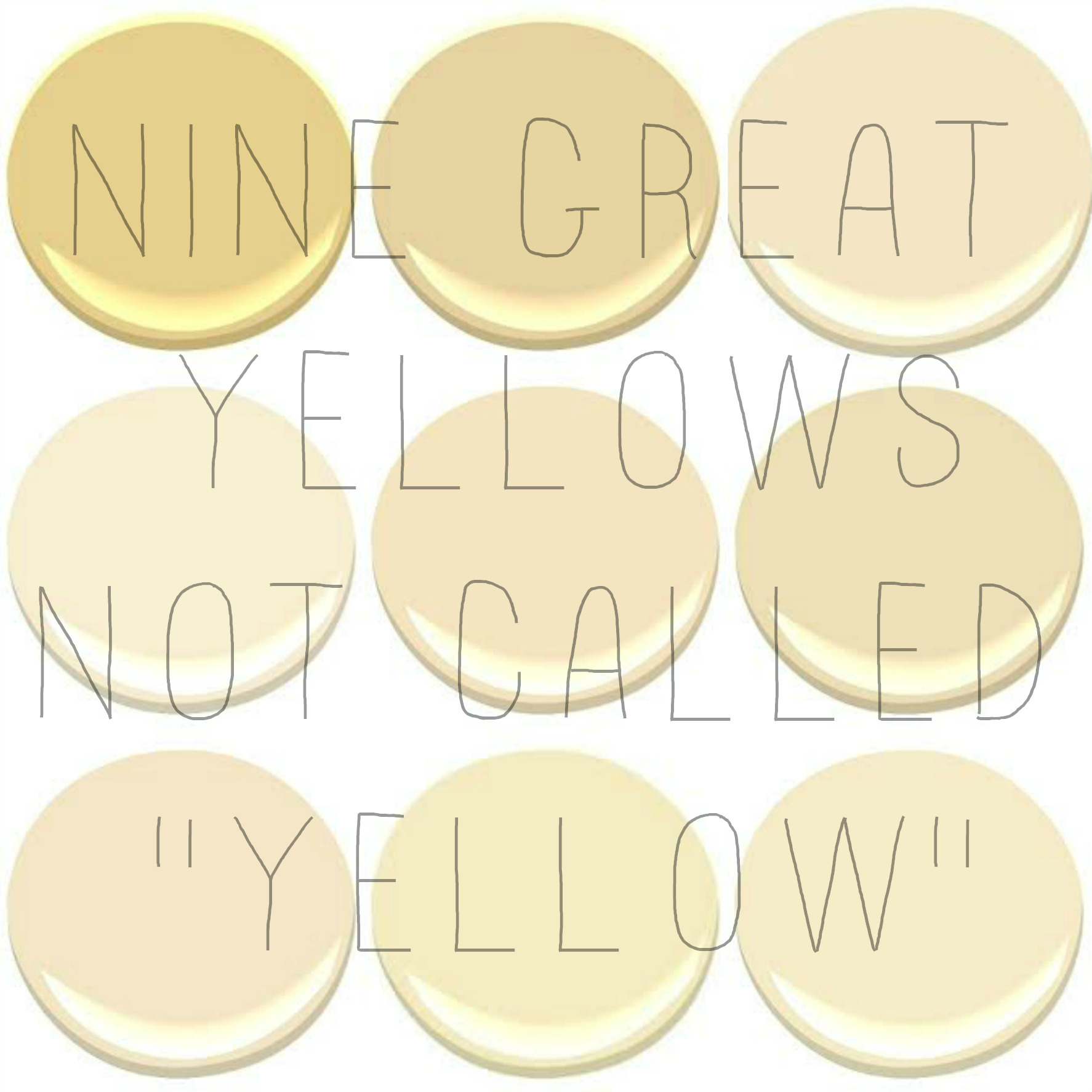 9 of the 10 most popular benjamin moore yellows concord ivory desert tan hemplewhite ivory mannequin cream montgomery white philadelphia white - Benjamin Moore Creme Brulee