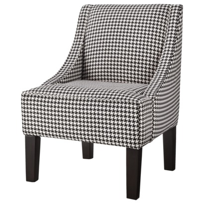 Hudson Swoop Chair - BLACK AND WHITE HOUNDSTOOTH