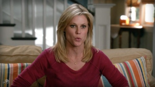 CLAIRE ON MODERN FAMILY...IN BURGUNDY