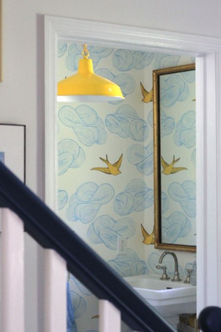 Stunning  SUNSHINE IN A POWDER ROOM STYLE BY EMILY HENDERSON