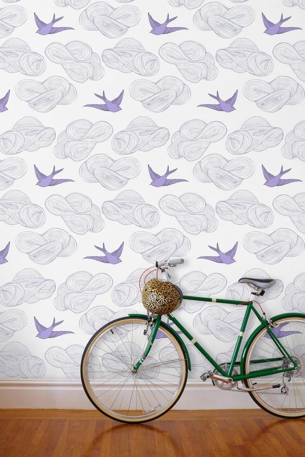 JULIA ROTHMAN DAYCREAM LILAC WALLPAPER FROM HYGEE AND WEST