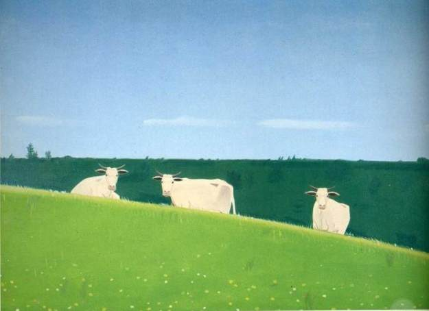 THREE COWS BY ALEX KATZ