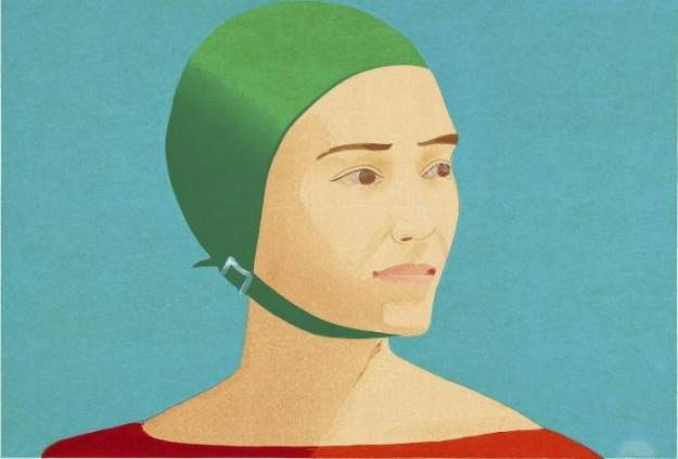 THE GREEN CAP BY ALEX KATZ