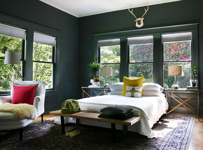 benjamin moore black forest green interior design ideas. Black Bedroom Furniture Sets. Home Design Ideas