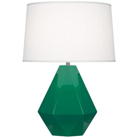 Robert Abbey Delta Emerald Glazed Table Lamp - LAMPS PLUS