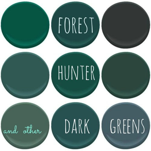 Color trend dark greens Benjamin moore country green