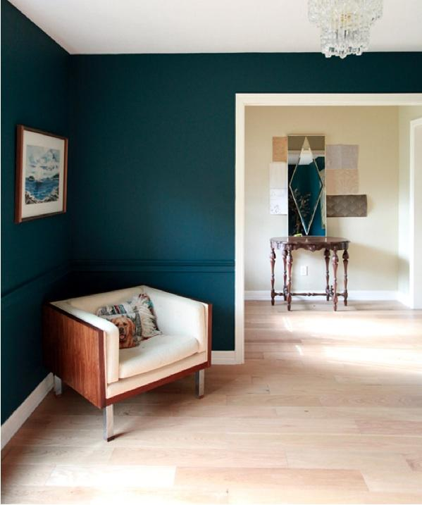 Blue Accent Wall Basment: DARK GREENS