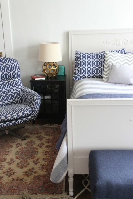 THE ORIENTAL RUG NEXT TO COOPER'S BED USED TO BE IN MY HUSBANDS OFFICE!