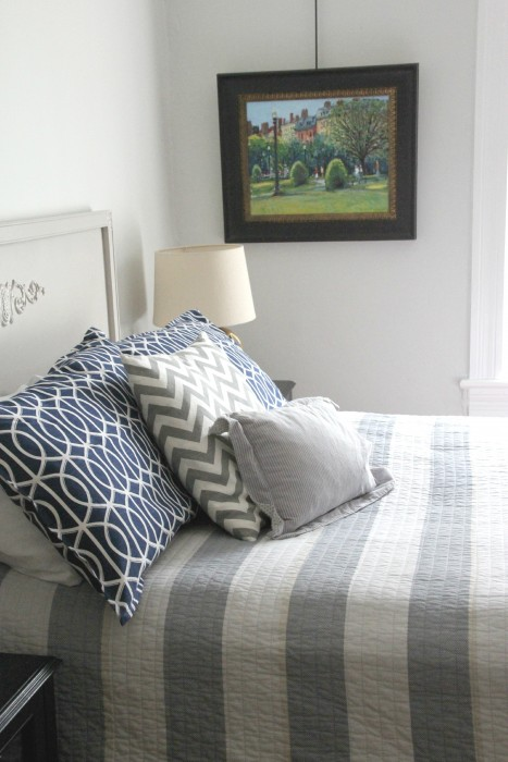COOPER'S QUILTS ARE FROM HOMEGOODS AND CRATE AND BARREL.