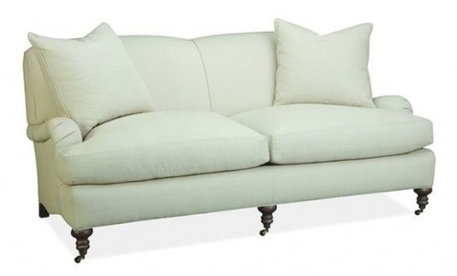LEE INDUSTRIES ROLL ARM SOFA