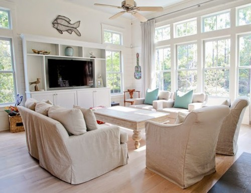 LOVE THESE SLIPCOVERS - HOUSE OF TURQUOISE WATERCOLOR FLORIDA