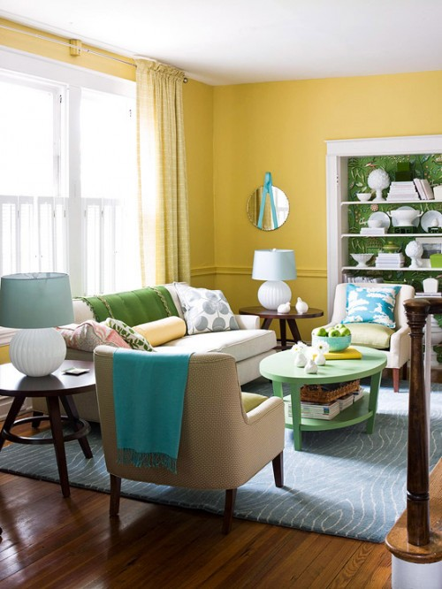 COLOR COMBINATIONS - YELLOW AND BLUE